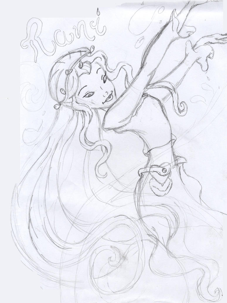 rani the fairy coloring pages - photo#1