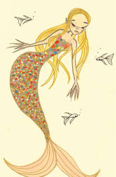 golden mermaid by littlemissfox-e1
