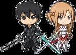 Asuna y Kirito de Sao