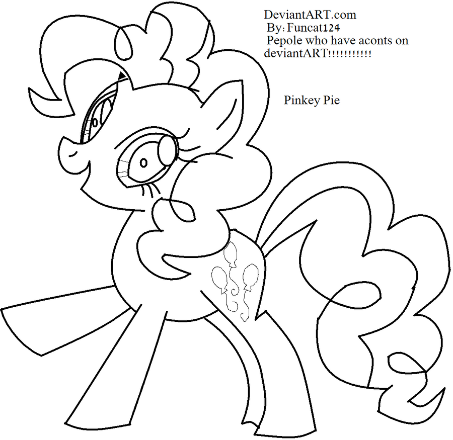 Pinkie pie coloring page by funcat124 on deviantart for Pinkie pie coloring page