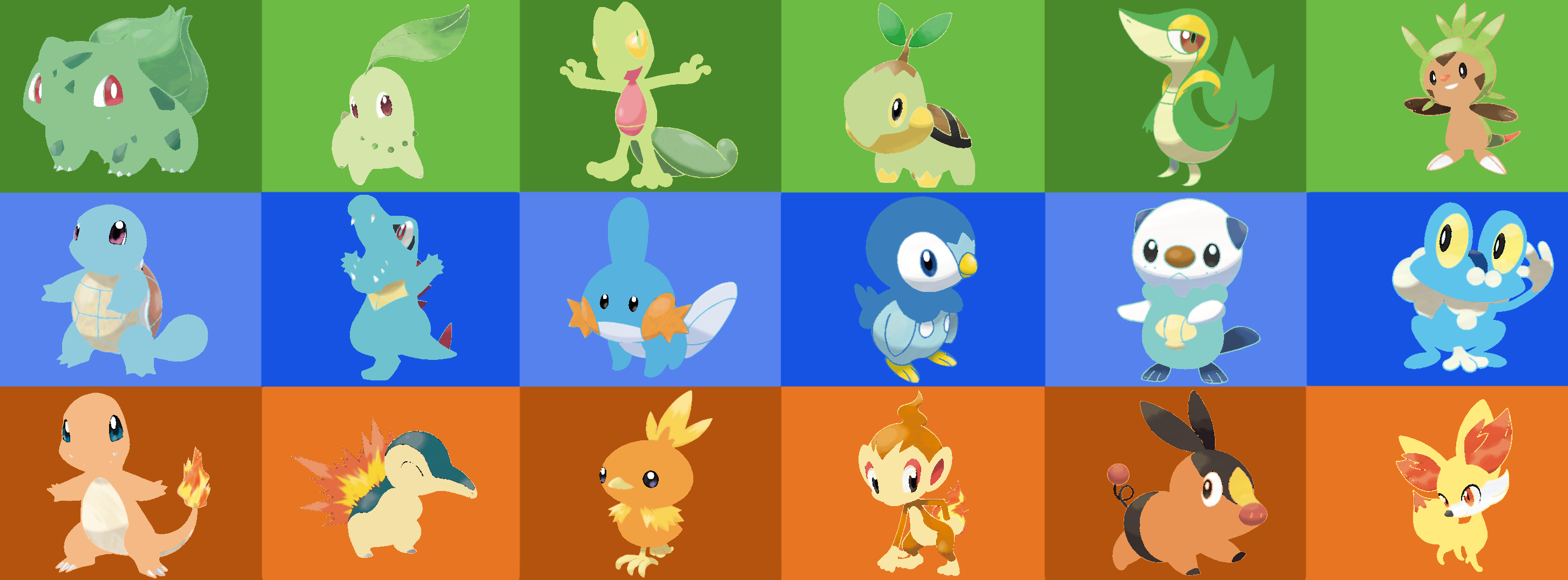 all starter pokemon from all generations