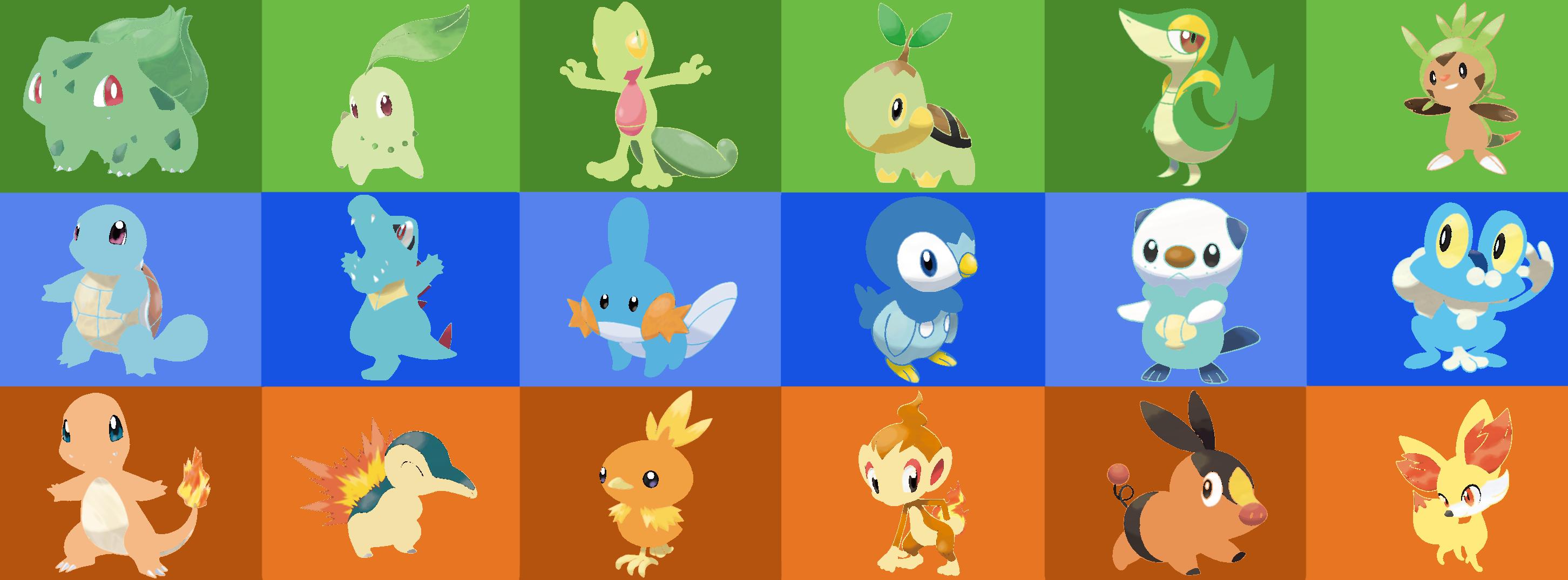 all starter pokemon pictures