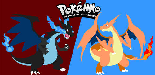PokeMMO Charizard X and Y Background by Vyranitar