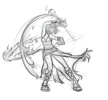 Sketch-a-day 05: Firedancer by medi-pack