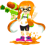 Splatoon ink girl