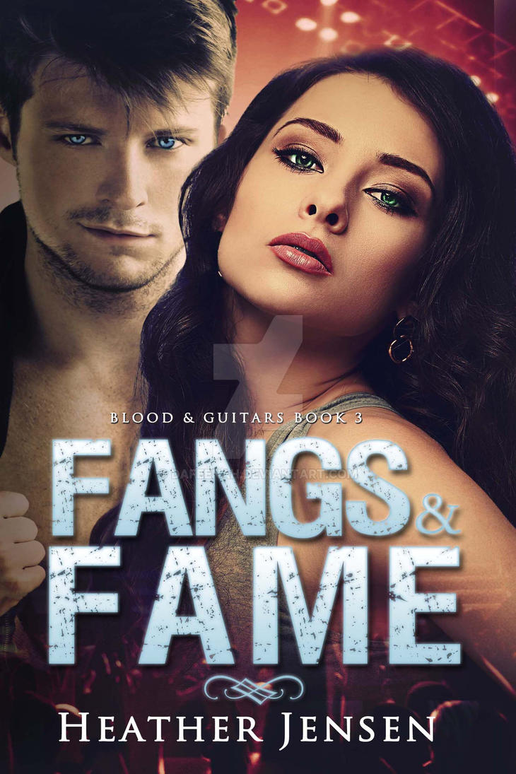Paranormal Ebook cover: Fangs and Fame by Dafeenah