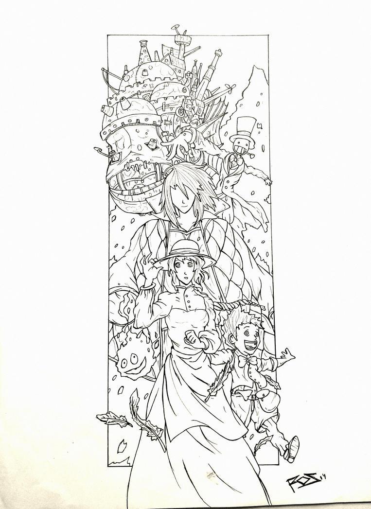 Dibujo de El Castillo Ambulante y dos ms en el foro Union