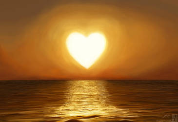 Heart Shaped Sun by Eye-Freeze