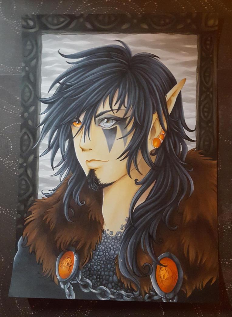 Skyrim Bosmer Portrait by Durina