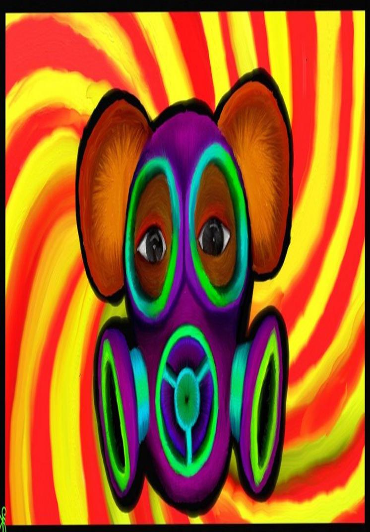 Gas Mask Bear Head by TechBehr