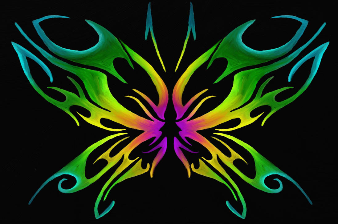 Tribal Butterfly Design by TechBehr on DeviantArt: techbehr.deviantart.com/art/tribal-butterfly-design-382175159