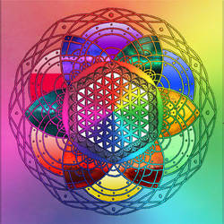 Rainbow Mandala by TechBehr