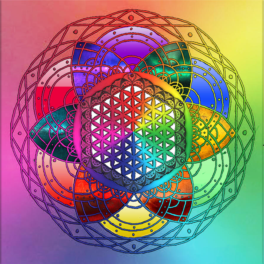 Rainbow Mandala by TechBehr