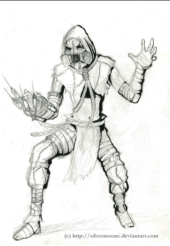 Arkham Asylum Scarecrow WIP By SilvermoonC