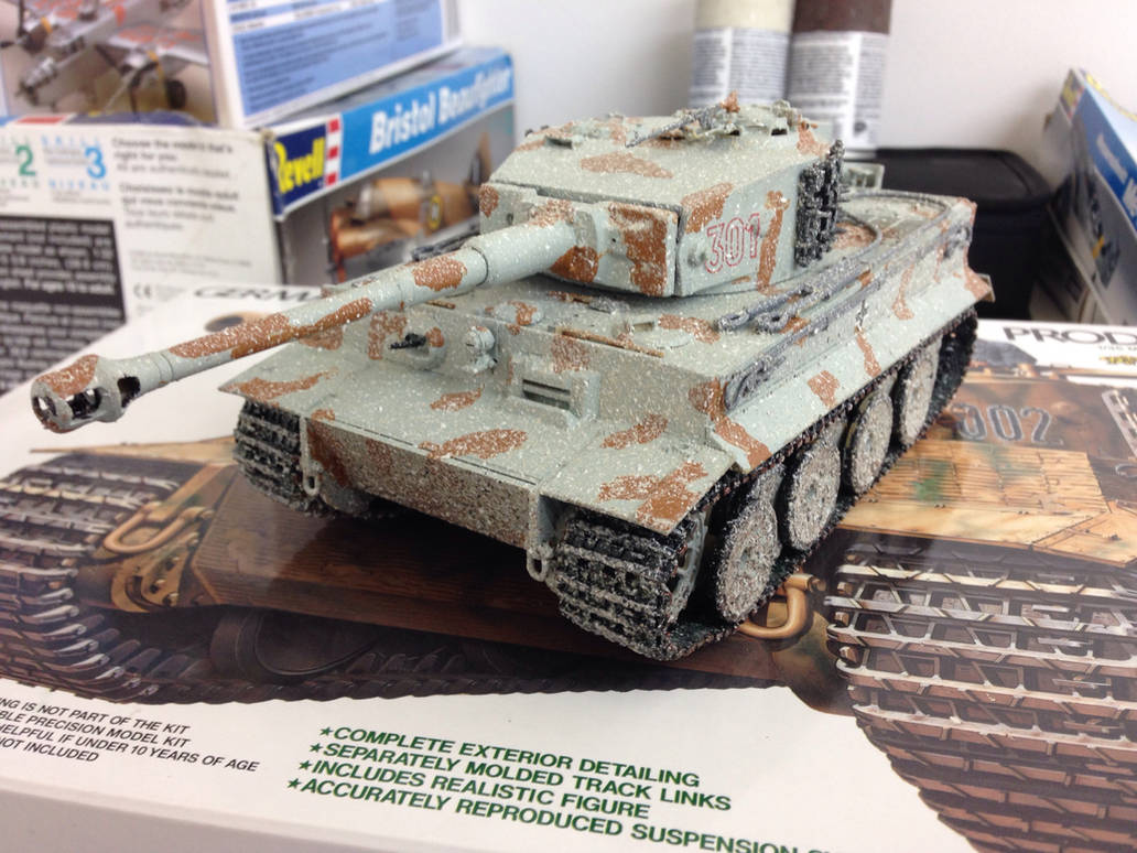 Tiger 1 heavy tank 1/35 scale Update weathered by Devastator259 on