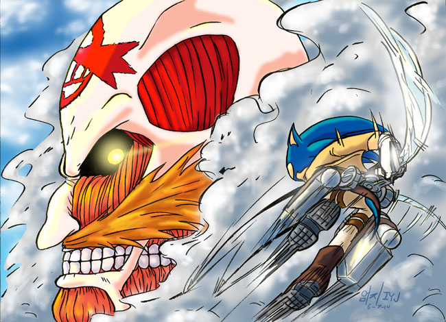 Attack On Eggman by InYuJi