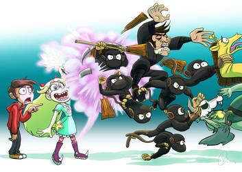 Star Summons A Barrel Of Monkey Ninjas