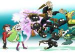 Star Summons A Barrel Of Monkey Ninjas by InYuJi