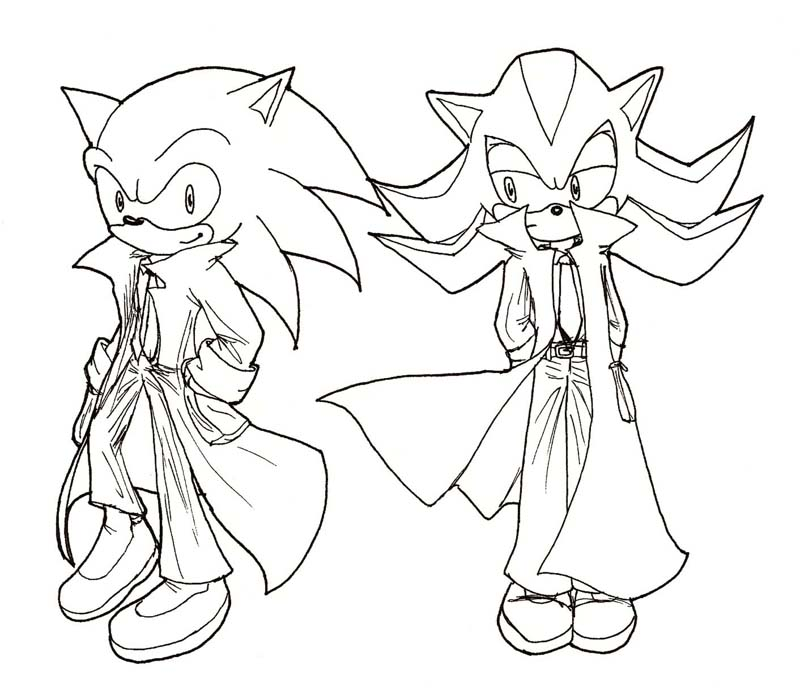 Sonic and Shadow in overcoats by InYuJi on DeviantArt