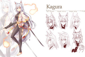 Commission - Kagura by Coffee-Straw-LuZi