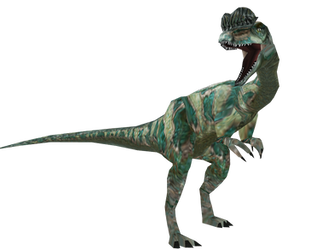JP Dilophosaurus (carnivores skin) by Drifter-Dx