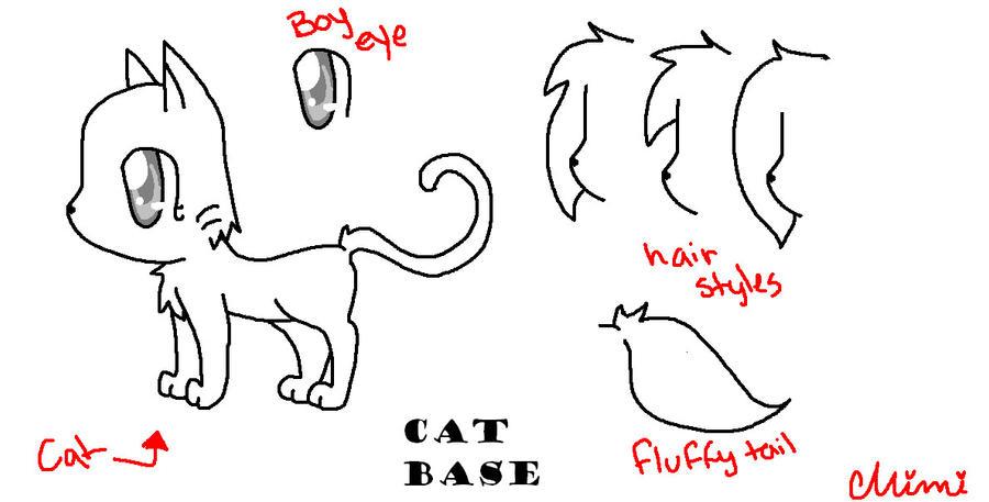Cat Base by MimiTheFox