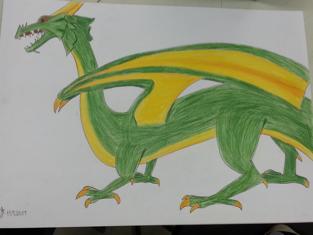 Dragon study in class! by Jo220695