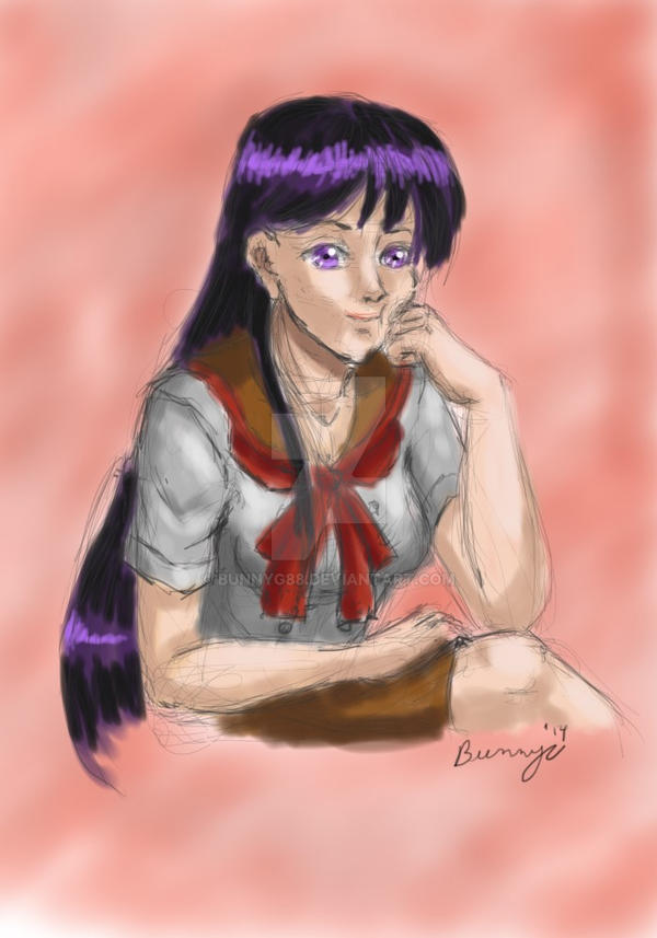 DAD: Day 49: Rei Hino by Rabbit-of-the-Moon