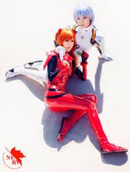 Rei x Asuka - Evangelion by beethy