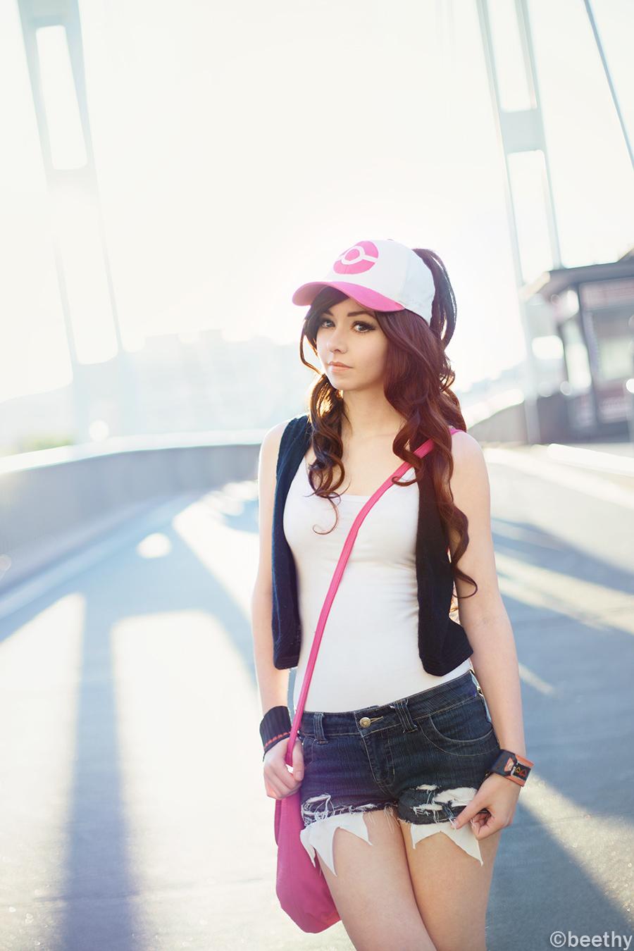 Pokemon Hilda / Touko [01] at Driftveil Drawbridge by beethy