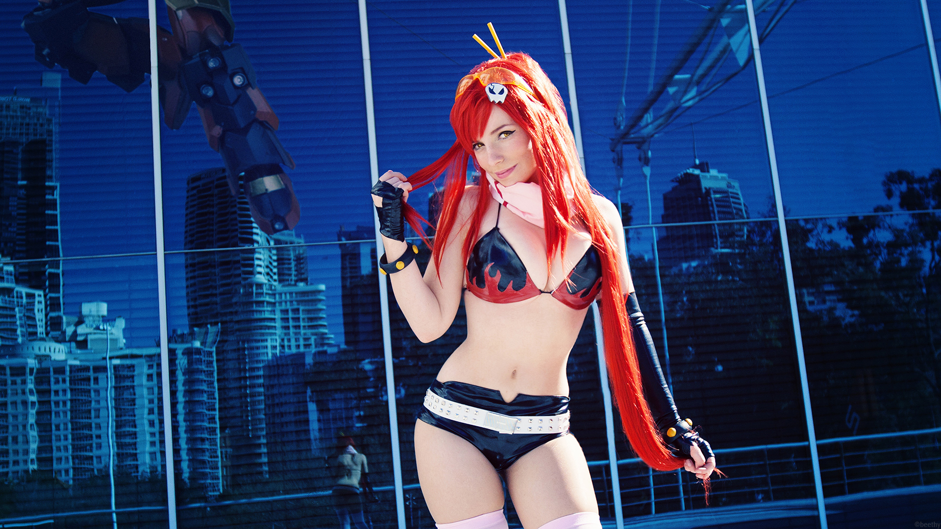 Yoko - Gurren Lagann 1080p HD Wallpaper by beethy