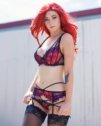 Amy - Red Lingerie by beethy