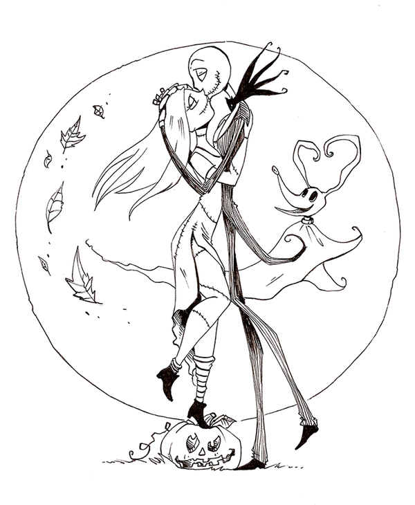 Gallery For gt Jack And Sally Coloring Pages