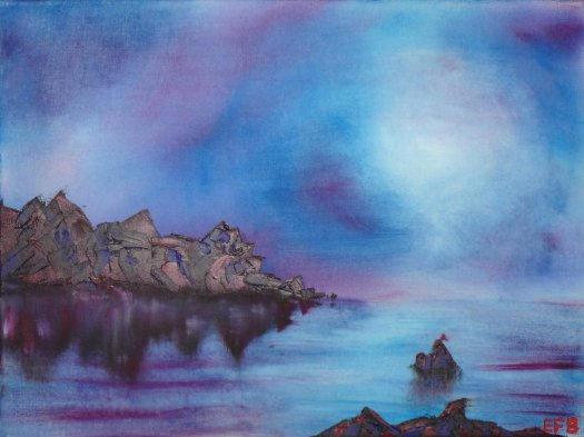 Moonlit Peninsula by ef-barber