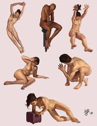 Pose Studies by joifish