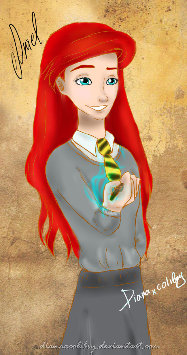 Ariel at the faculty Hufflepuff by DianAxColibrY