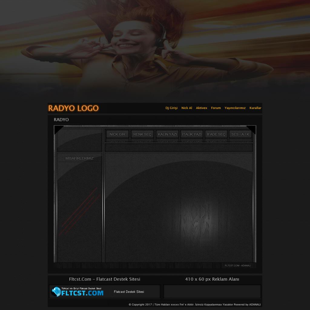 Orange template psd flatcast free by FLtcstCom on DeviantArt