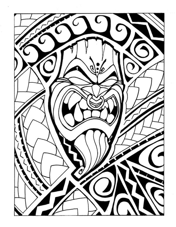 Samoan Tiki -b+w by Mr-Tasi ...