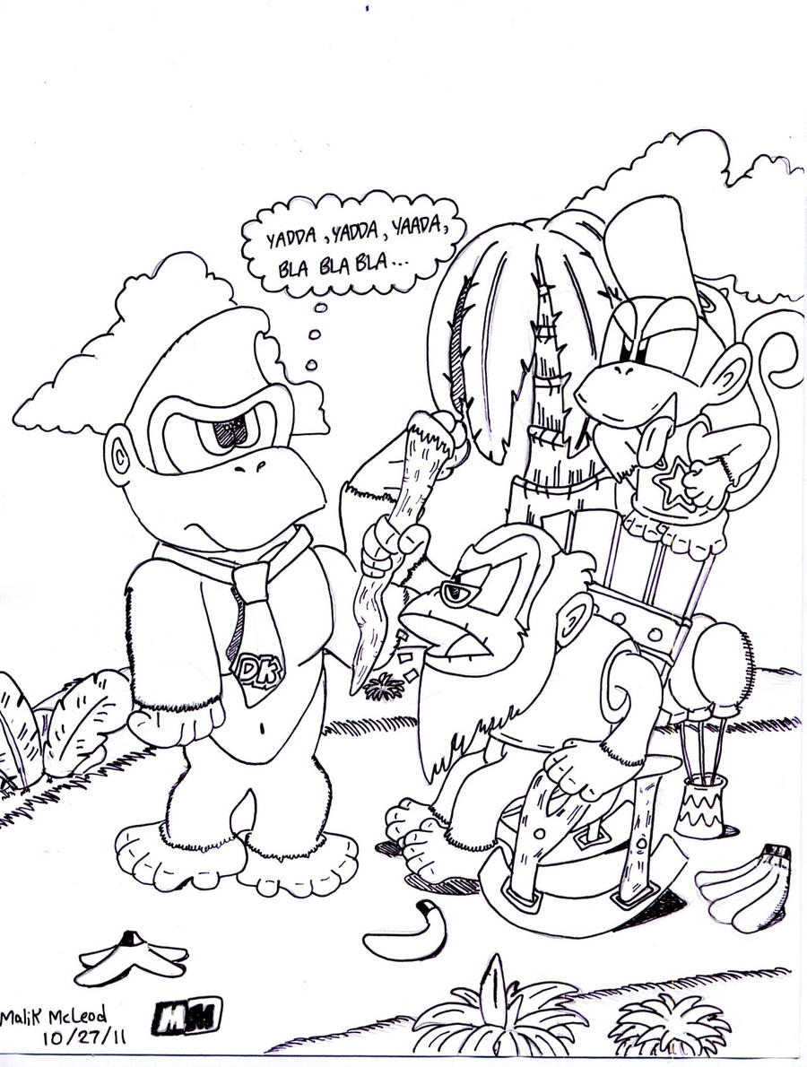 Funky Kong Coloring Pages Coloring Pages