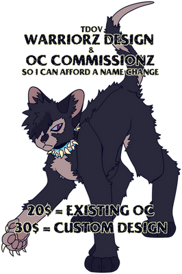 TDOV WARRIOR CATZ COMMISSIONZ