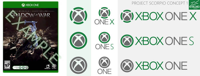 Xbox One X - Logo Ideas - Project Scorpio