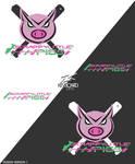 EZA - Prodcast Season 4 Logo - SCRAPPY LITTLE PIGS by kevboard