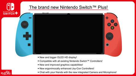Nintendo Switch Plus / Console Mockup / Switch Pro