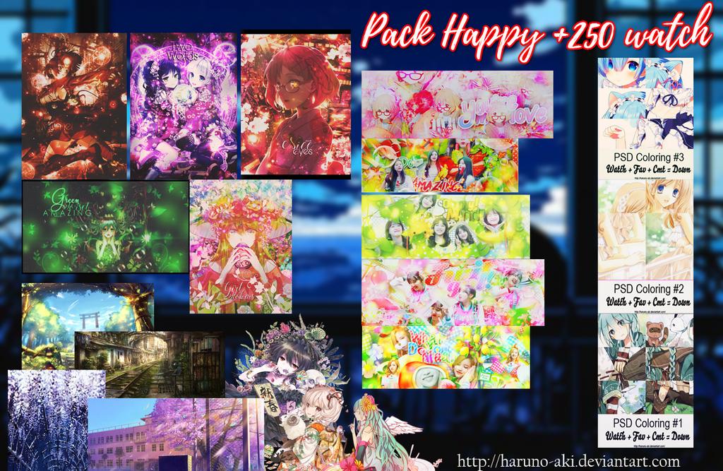 Pack happy +250 watch by Haruno-Aki