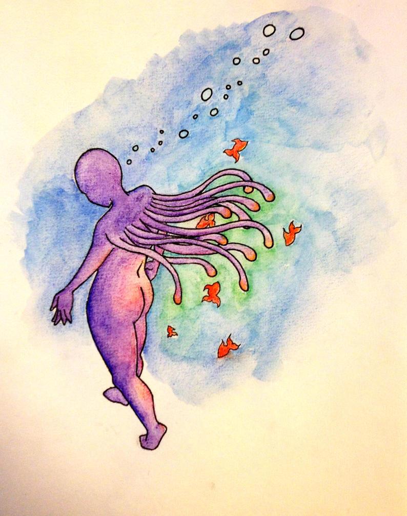 Wandering Underwater by LeoDormouse