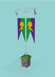 Arendelle Lamp With Flag by DavidM-142