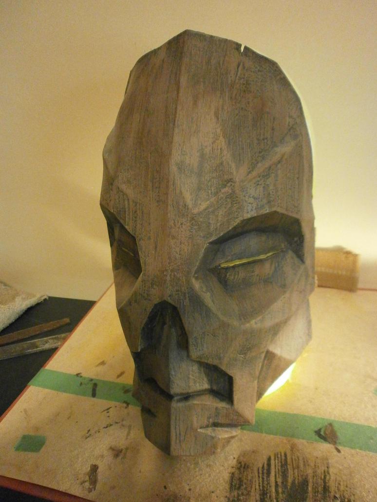 Wooden Dragon Priest Mask by PepaBurrr