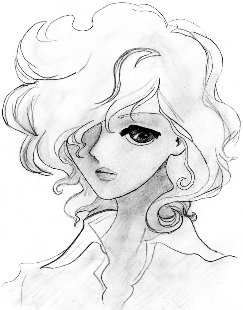 It is a picture of Universal Short Curly Hair Drawing