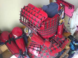 Red Samurai Armour 2 by Tulloran