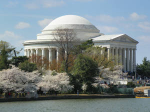 Jefferson memorial side view